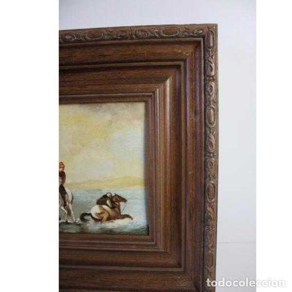 Antigüedades: Antiguo cuadro óleo sobre lienzo - Foto 2 - 166311246