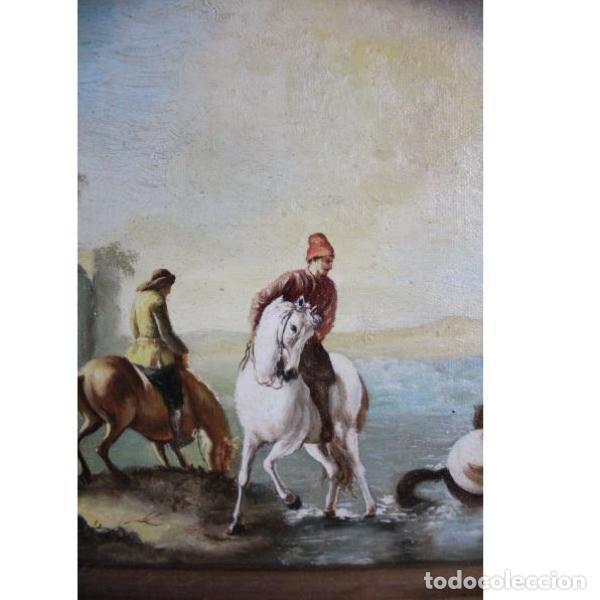 Antigüedades: Antiguo cuadro óleo sobre lienzo - Foto 3 - 166311246