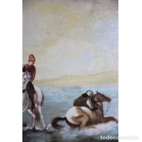 Antigüedades: Antiguo cuadro óleo sobre lienzo - Foto 4 - 166311246