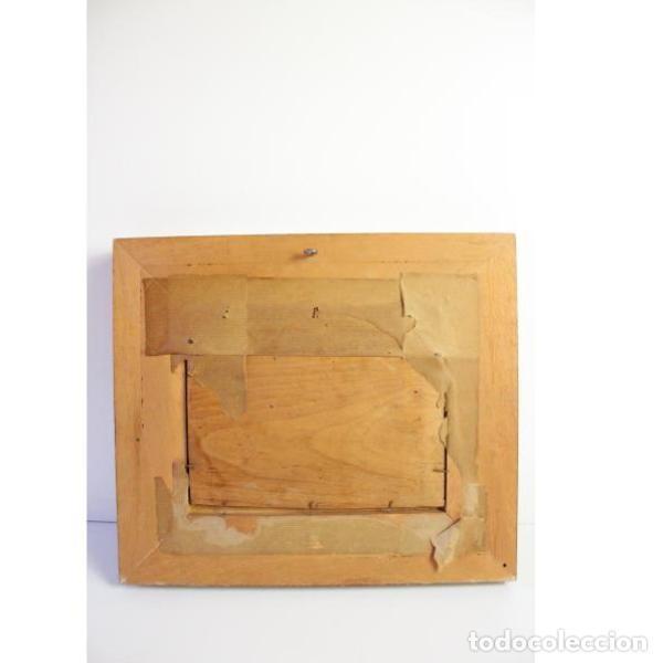 Antigüedades: Antiguo cuadro óleo sobre lienzo - Foto 5 - 166311246