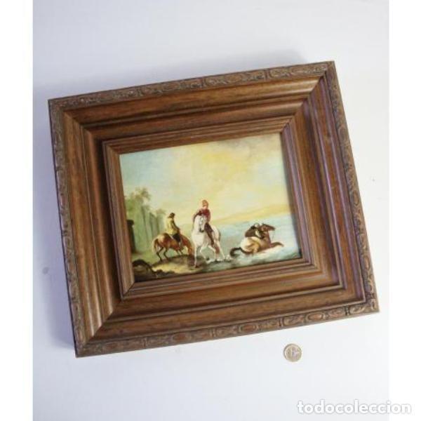 Antigüedades: Antiguo cuadro óleo sobre lienzo - Foto 6 - 166311246