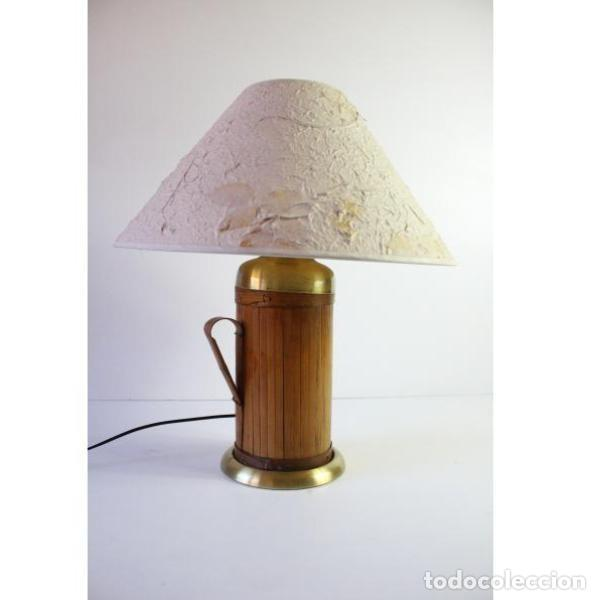 Antigüedades: Antigua lámpara de mesa de bambú - Foto 2 - 166311958