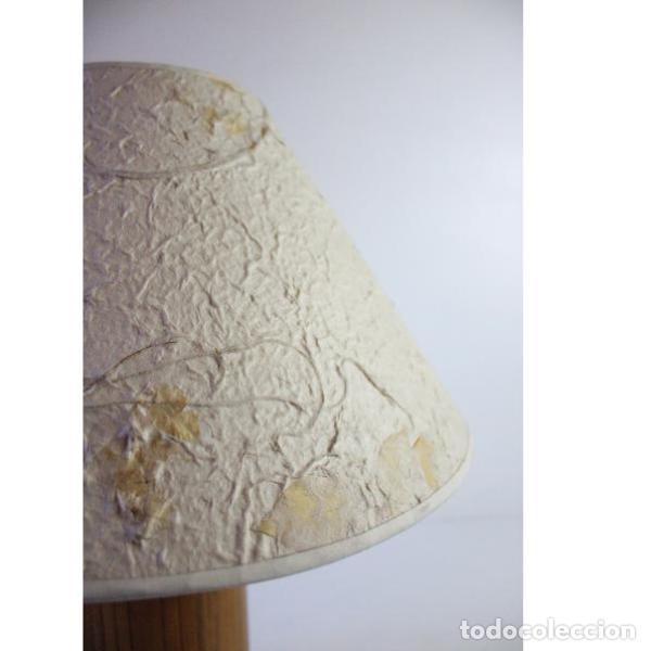 Antigüedades: Antigua lámpara de mesa de bambú - Foto 4 - 166311958