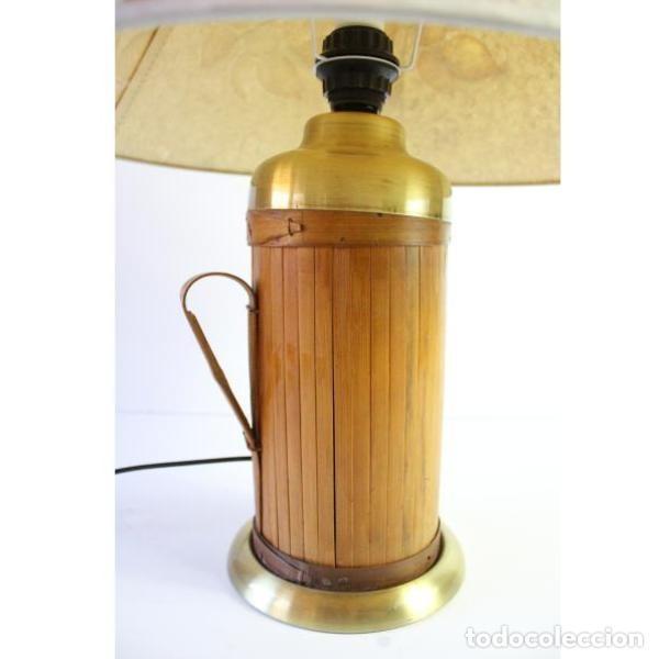 Antigüedades: Antigua lámpara de mesa de bambú - Foto 5 - 166311958