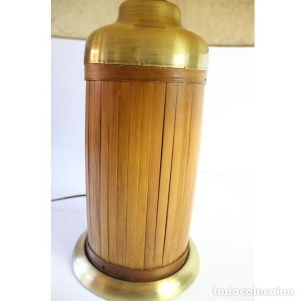 Antigüedades: Antigua lámpara de mesa de bambú - Foto 6 - 166311958