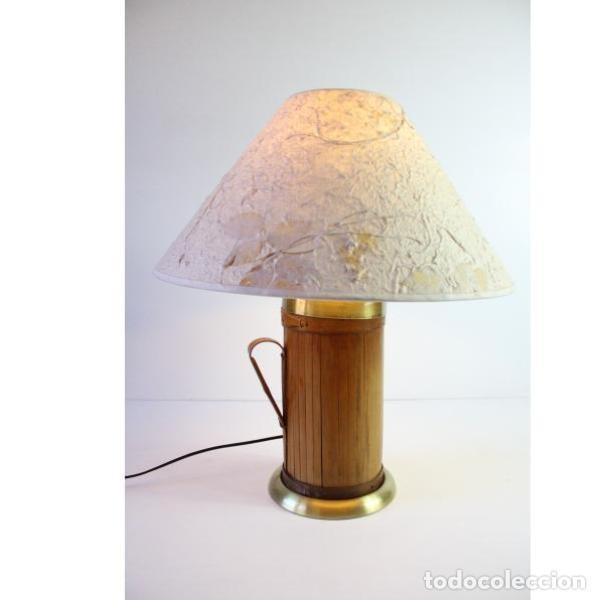 Antigüedades: Antigua lámpara de mesa de bambú - Foto 7 - 166311958