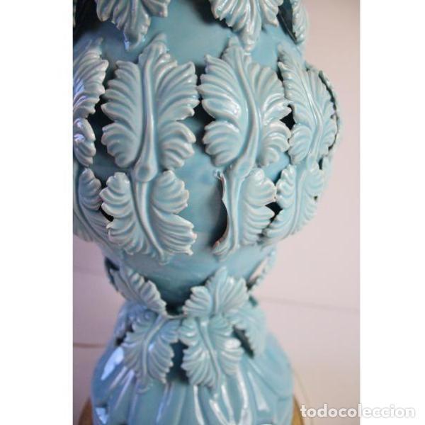Antigüedades: Antigua lámpara de porcelana de manises - Foto 5 - 166314010