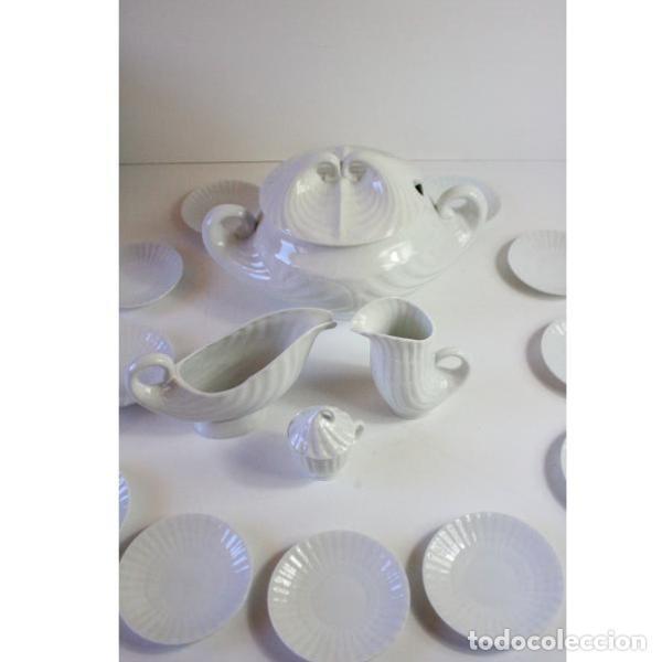 Antigüedades: Antiguo juego de porcelana O Castro vajilla - Foto 2 - 166316118