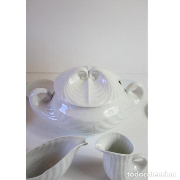 Antigüedades: Antiguo juego de porcelana O Castro vajilla - Foto 3 - 166316118