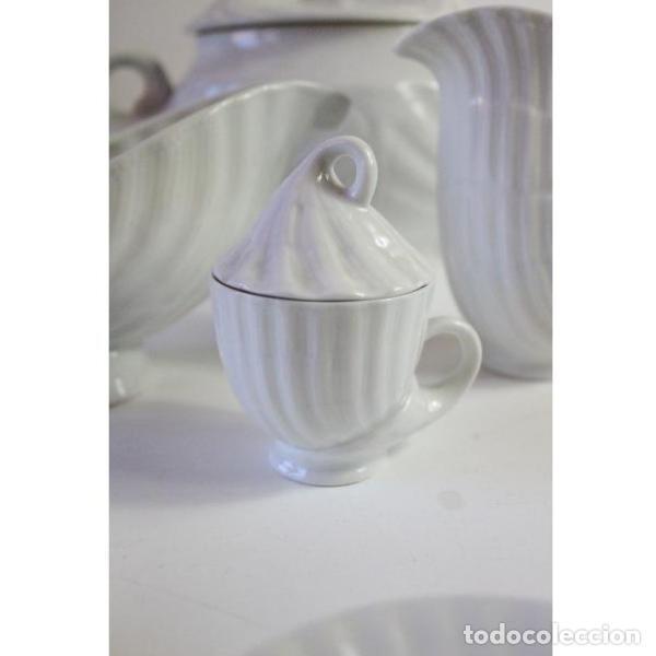 Antigüedades: Antiguo juego de porcelana O Castro vajilla - Foto 4 - 166316118
