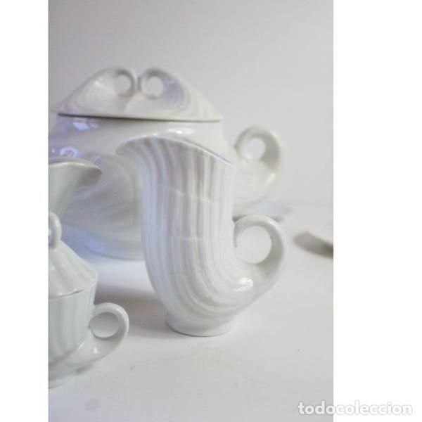 Antigüedades: Antiguo juego de porcelana O Castro vajilla - Foto 5 - 166316118
