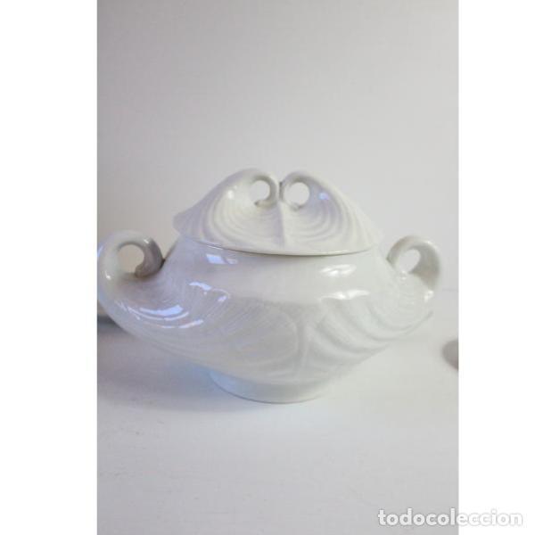 Antigüedades: Antiguo juego de porcelana O Castro vajilla - Foto 8 - 166316118
