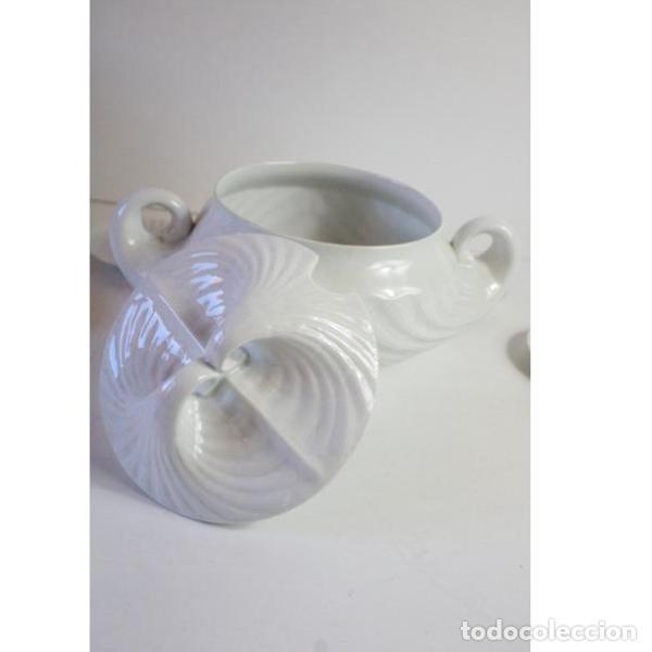 Antigüedades: Antiguo juego de porcelana O Castro vajilla - Foto 9 - 166316118