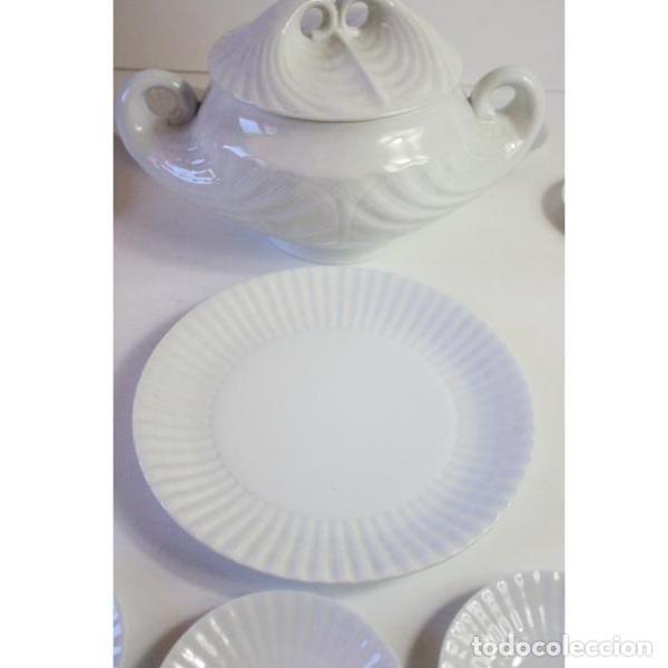 Antigüedades: Antiguo juego de porcelana O Castro vajilla - Foto 10 - 166316118
