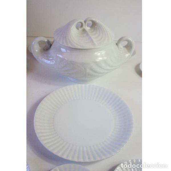 Antigüedades: Antiguo juego de porcelana O Castro vajilla - Foto 11 - 166316118