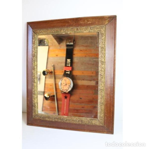 Antigüedades: Antiguo espejo con marco de madera - Foto 2 - 166320570
