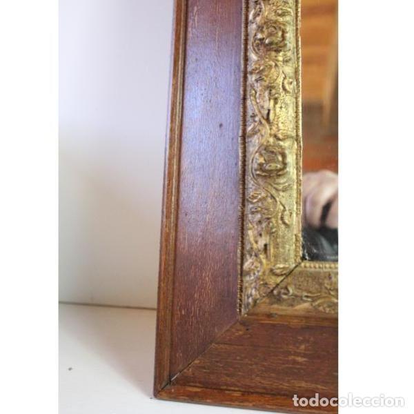Antigüedades: Antiguo espejo con marco de madera - Foto 5 - 166320570