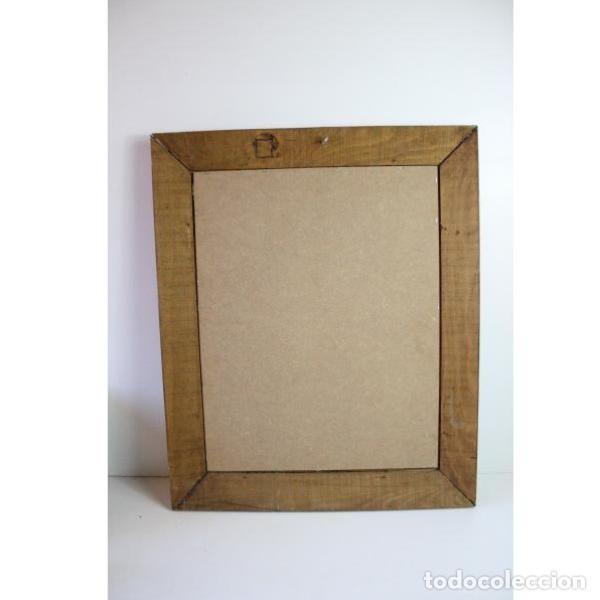 Antigüedades: Antiguo espejo con marco de madera - Foto 6 - 166320570