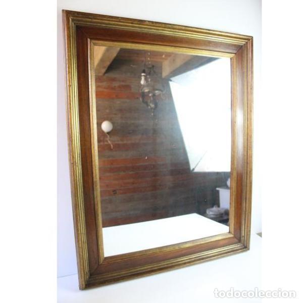 Antigüedades: Antiguo marco de madera con espejo - Foto 2 - 166322906