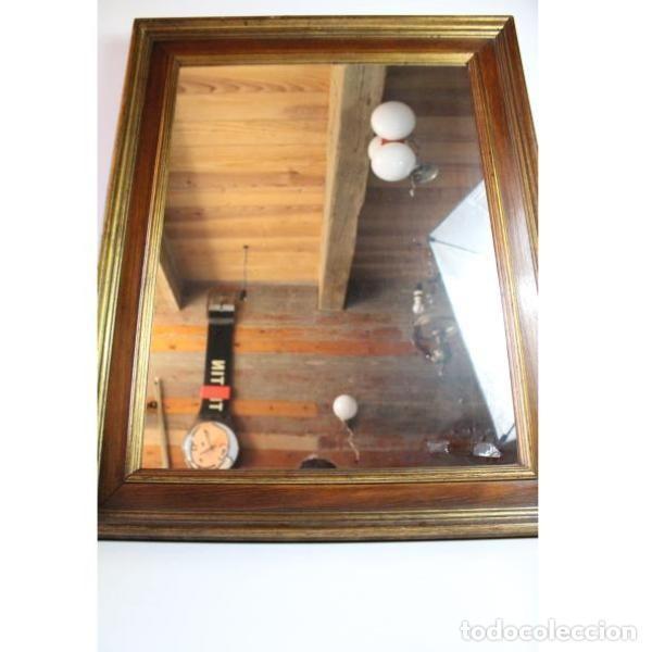 Antigüedades: Antiguo marco de madera con espejo - Foto 3 - 166322906