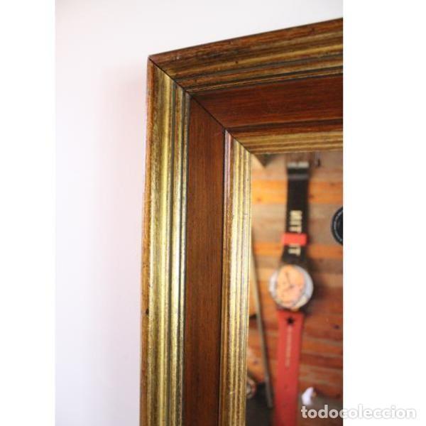Antigüedades: Antiguo marco de madera con espejo - Foto 4 - 166322906