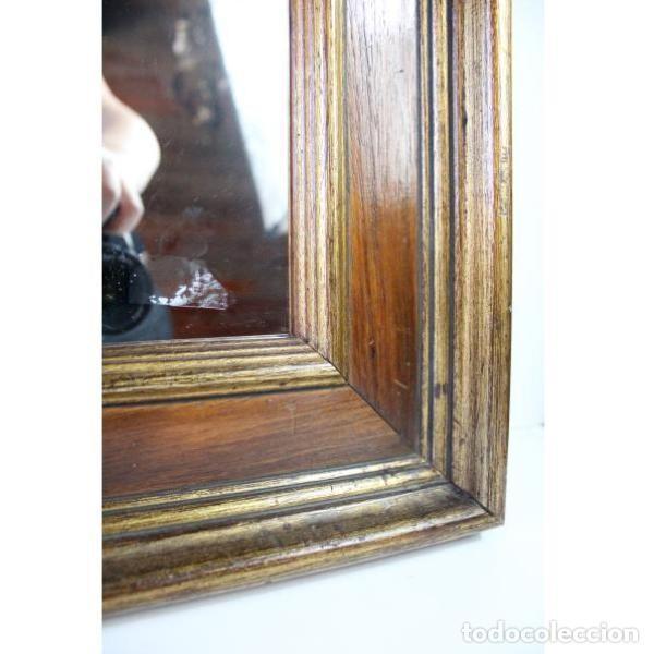 Antigüedades: Antiguo marco de madera con espejo - Foto 5 - 166322906