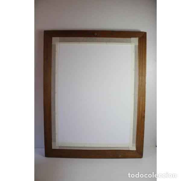 Antigüedades: Antiguo marco de madera con espejo - Foto 6 - 166322906