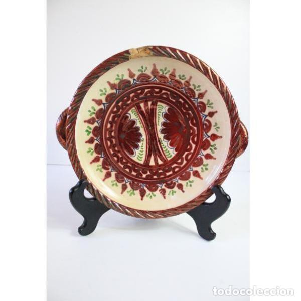 ANTIGUO PLATO DE CERÁMICA DE REFLEJOS DE SANGUINO DE TOLEDO (Antigüedades - Porcelanas y Cerámicas - Otras)