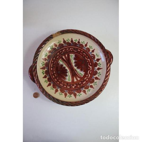 Antigüedades: Antiguo plato de cerámica de reflejos de Sanguino de Toledo - Foto 6 - 166324790