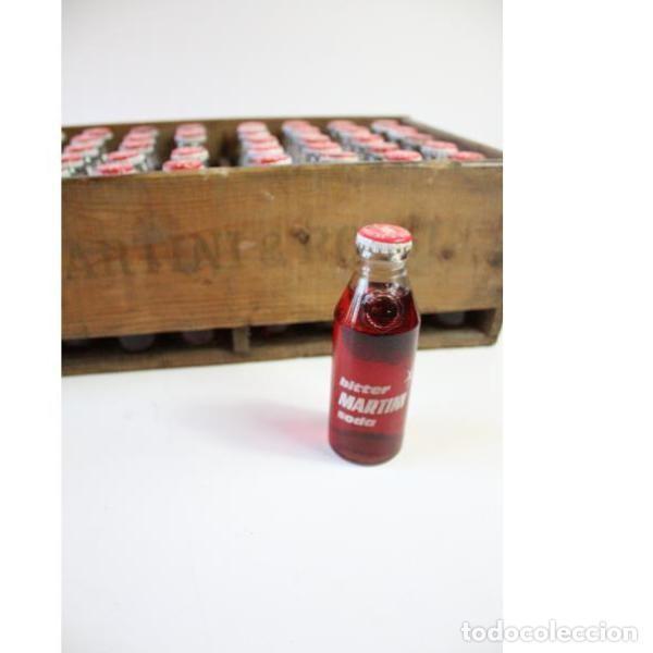 Antigüedades: Antigua caja de madera completa soda Martini & Rossi botellero - Foto 3 - 166325850