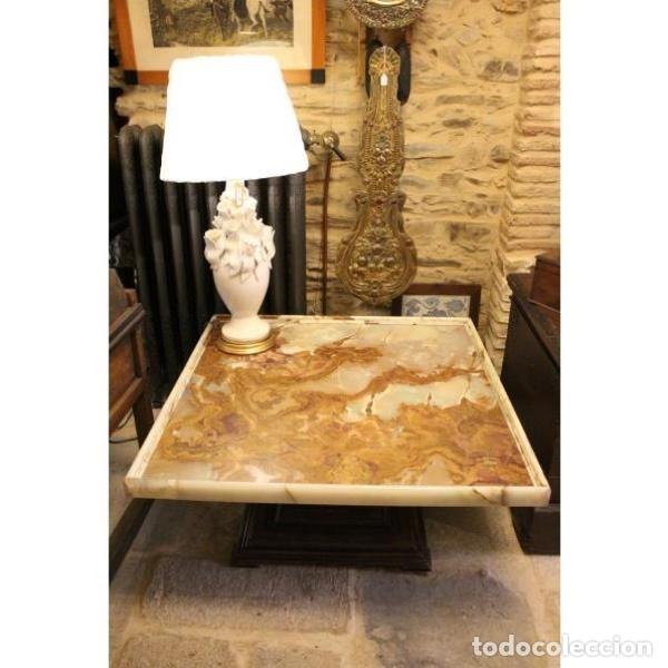 ANTIGUA MESA DE ÓNIX (Antigüedades - Muebles Antiguos - Mesas Antiguas)