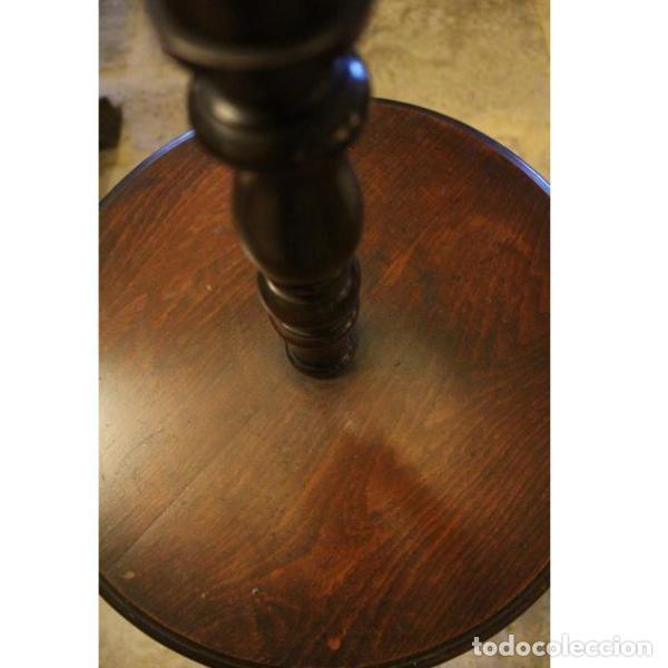 Antigüedades: Antigua lámpara mesa auxiliar de madera años 50 - Foto 6 - 166326378