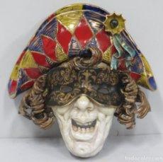 Antigüedades: GRAN MASCARA VENECIANA DE CERAMICA. CARNAVAL. EUGENIO PATTARINO (ITALIAN, 1885-1971). Lote 166359770