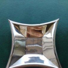 Antigüedades: ORIGINAL BANDEJA BANDEJITA DE PLATA DE LEY CON CONTRASTE. Lote 166366546