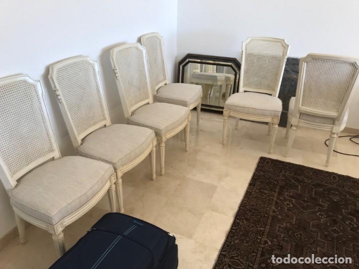 6 SILLAS DE COMEDOR TOTALMENTE COMO NUEVO FABRICADO MADERA SOLIDA EN USA HACE 50 AÑOS (Antigüedades - Muebles Antiguos - Sillas Antiguas)
