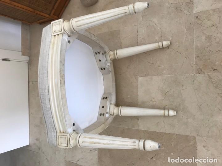 Antigüedades: 6 sillas de comedor totalmente como nuevo fabricado madera solida en USA hace 50 años - Foto 4 - 166372202