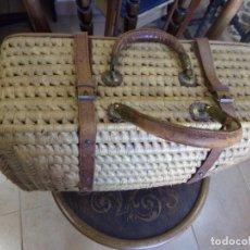 Antigüedades: CESTA DE ANEA,PARA LA MERIENDA, BUEN ESTADO. Lote 166378638