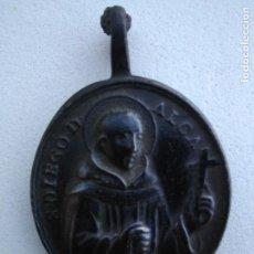 Antigüedades: MAGNIFICA MEDALLA DE SAN DIEGO Y SAN PEDRO DE ALCALÁ, BRONCE DEL SIGLO XVIII. Lote 166403462