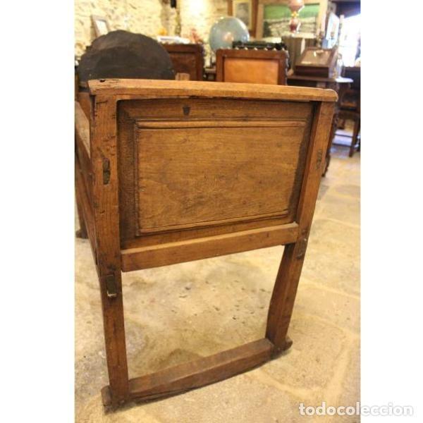 Antigüedades: Antigua cuna de madera de chopo pais - Foto 4 - 166405994