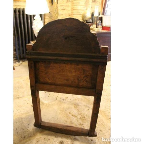 Antigüedades: Antigua cuna de madera de chopo pais - Foto 6 - 166405994