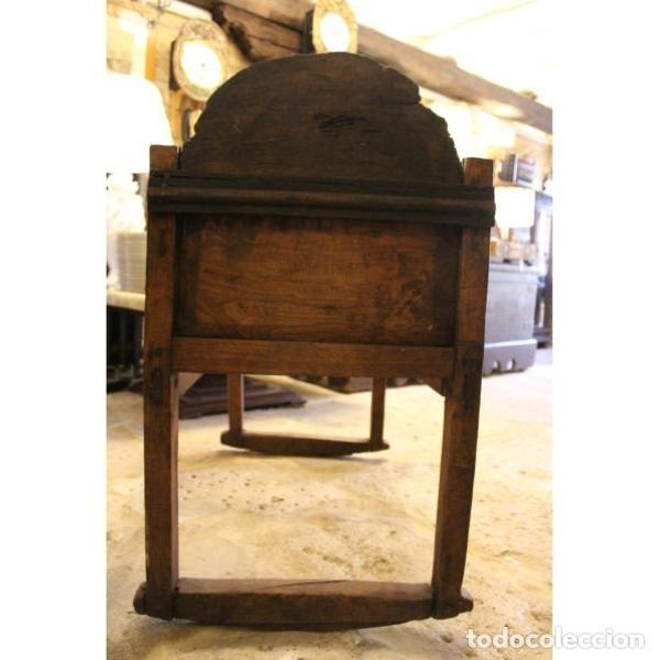 Antigüedades: Antigua cuna de madera de chopo pais - Foto 7 - 166405994