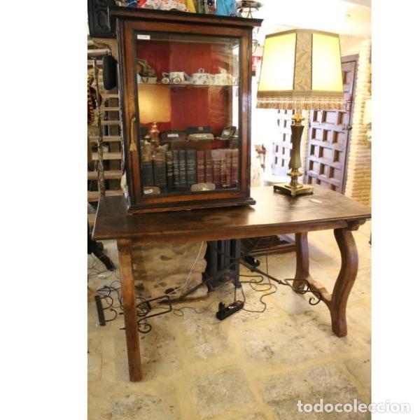 ANTIGUA MESA DE MADERA DE NOGAL (Antigüedades - Muebles Antiguos - Mesas Antiguas)