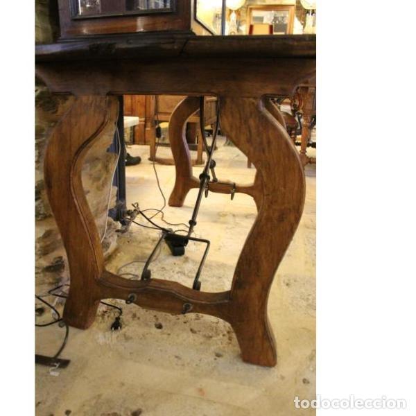 Antigüedades: Antigua mesa de madera de nogal - Foto 4 - 166406202