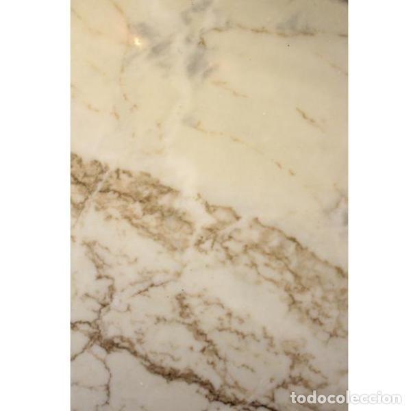 Antigüedades: Antigua mesa de mármol, madera y bronce - Foto 6 - 166406374