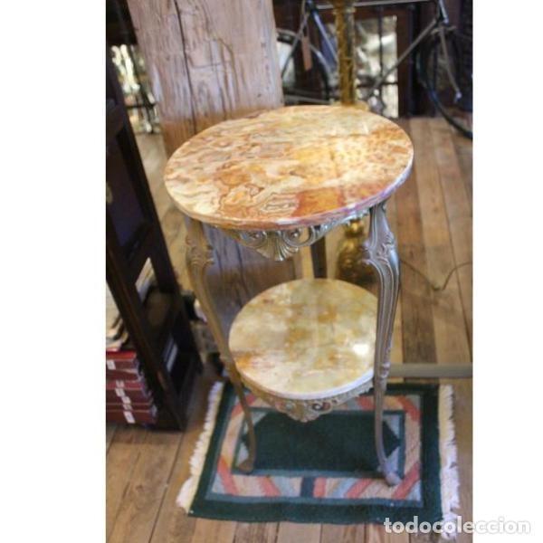 Antigüedades: Antigua mes años 50 en mármol y bronce doble altura - Foto 3 - 166406854