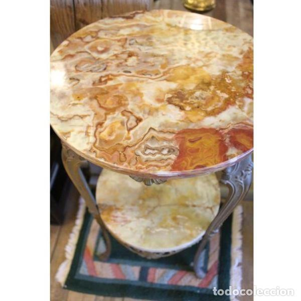 Antigüedades: Antigua mes años 50 en mármol y bronce doble altura - Foto 7 - 166406854