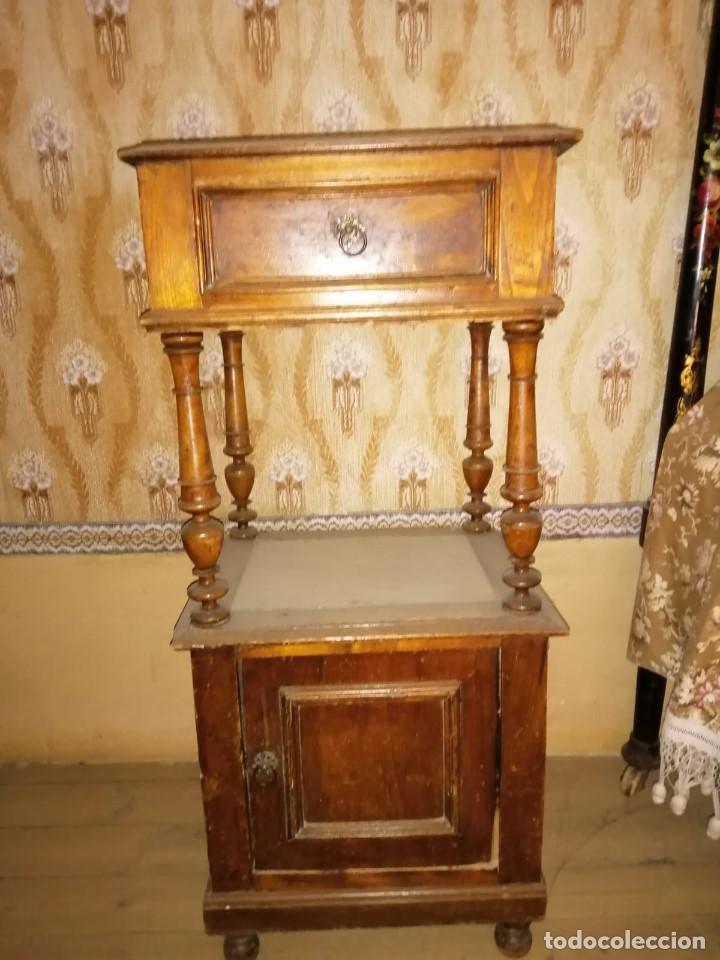 Antigüedades: MESILLA DE NOCHE ANTIGUA - Foto 2 - 166409230