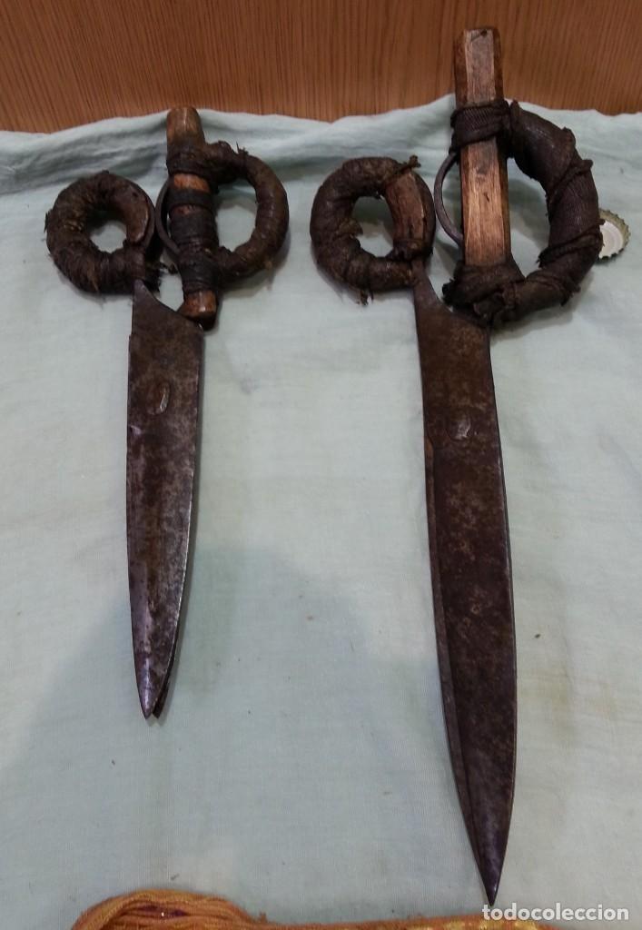 Antigüedades: Tijeras esquiladoras de ovejas. Pareja. Impresionantes herramientas antiguas. - Foto 3 - 166411058