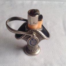 Antigüedades: CLIPPER ENCENDEDOR DE MESA FORMA CANASTA. Lote 166412678