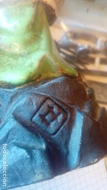 Antigüedades: Pareja de figuras chinas de ceramica vidriada - Foto 5 - 166446378